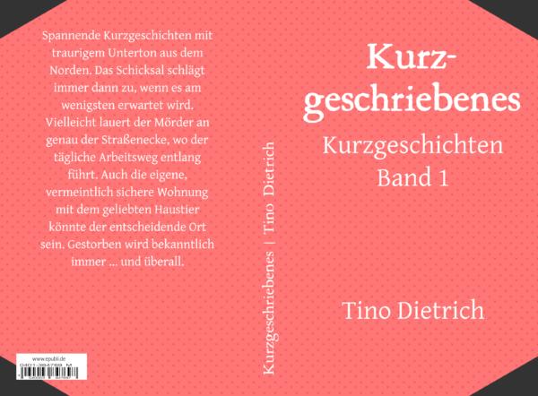 Kurzgeschriebenes Taschenbuch Cover komplett